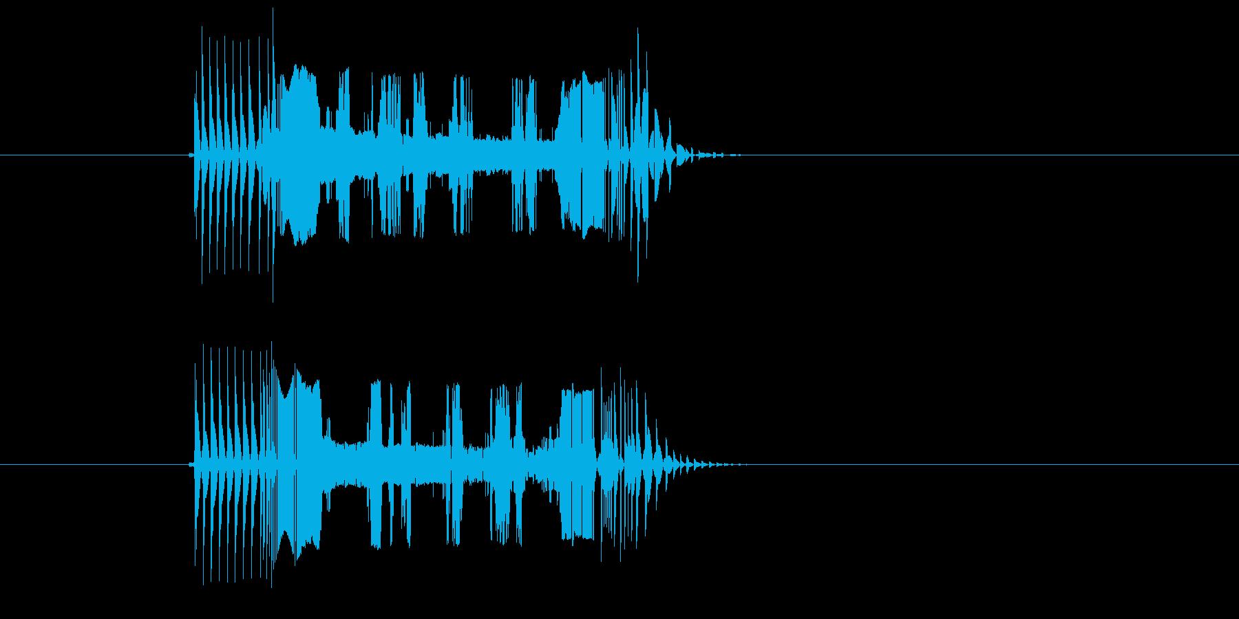 ブチブチチューン(テープ、機械)の再生済みの波形