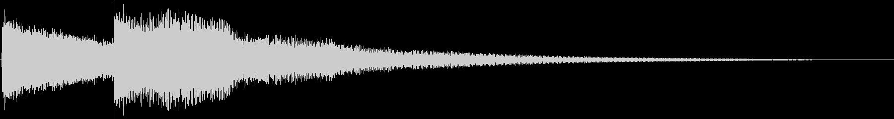 呼び鈴/呼び出し音/玄関チャイムSE1の未再生の波形