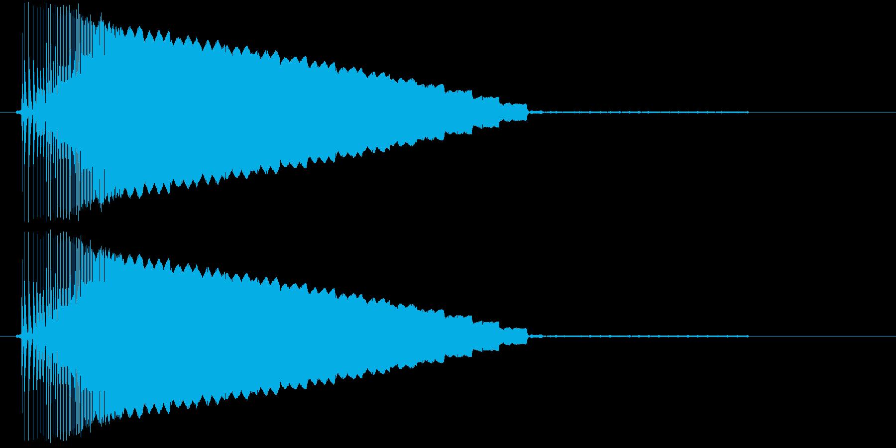 【ゲームボーイ/スタート、ピコーン】の再生済みの波形