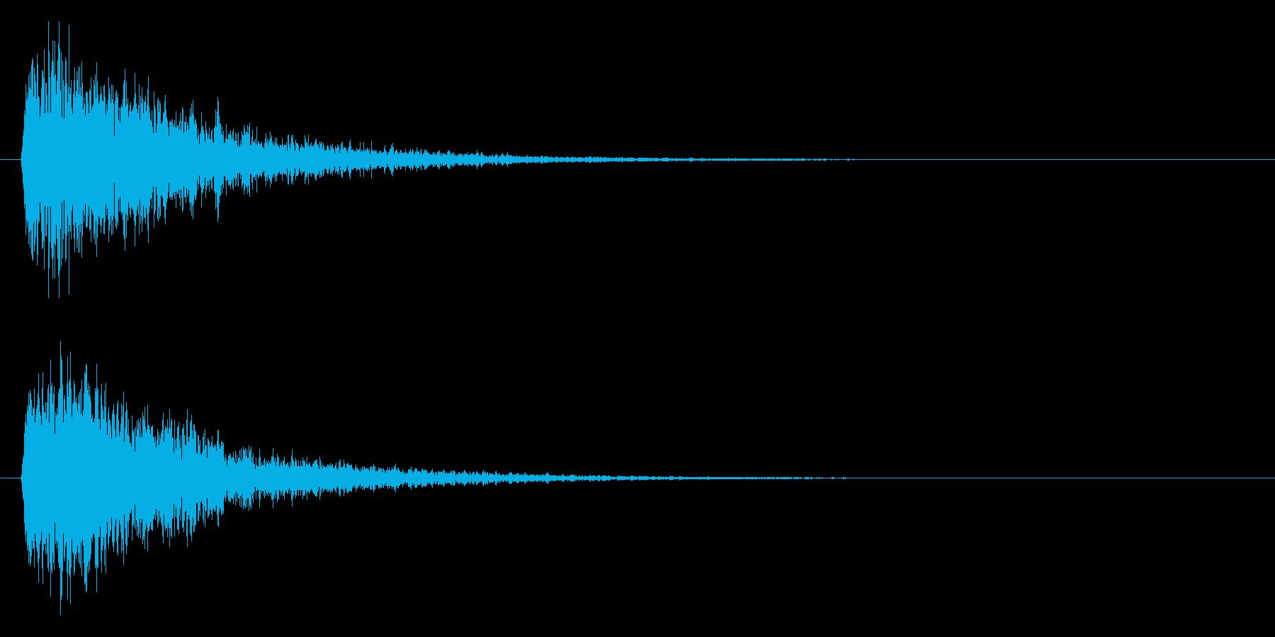ジャン(ゲームオーバー等)の再生済みの波形