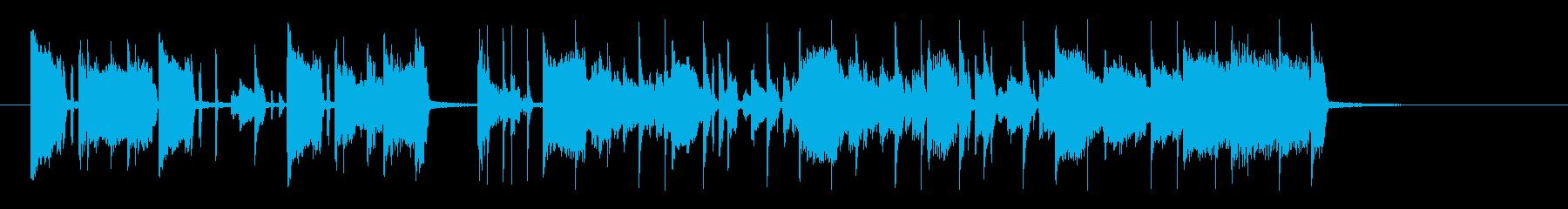 ワウギターのカッティングが特徴のジングルの再生済みの波形