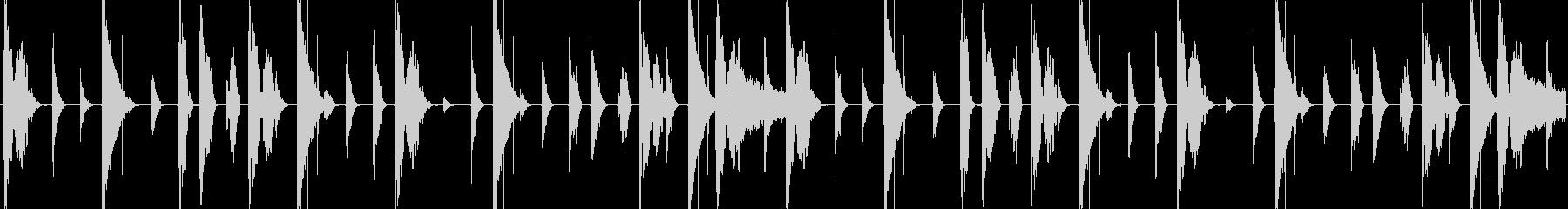 HIPHOPリズムループの未再生の波形