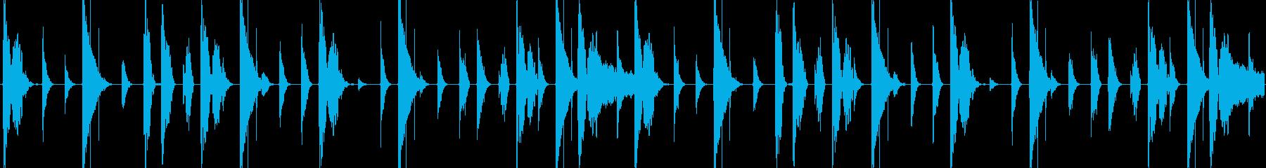 HIPHOPリズムループの再生済みの波形
