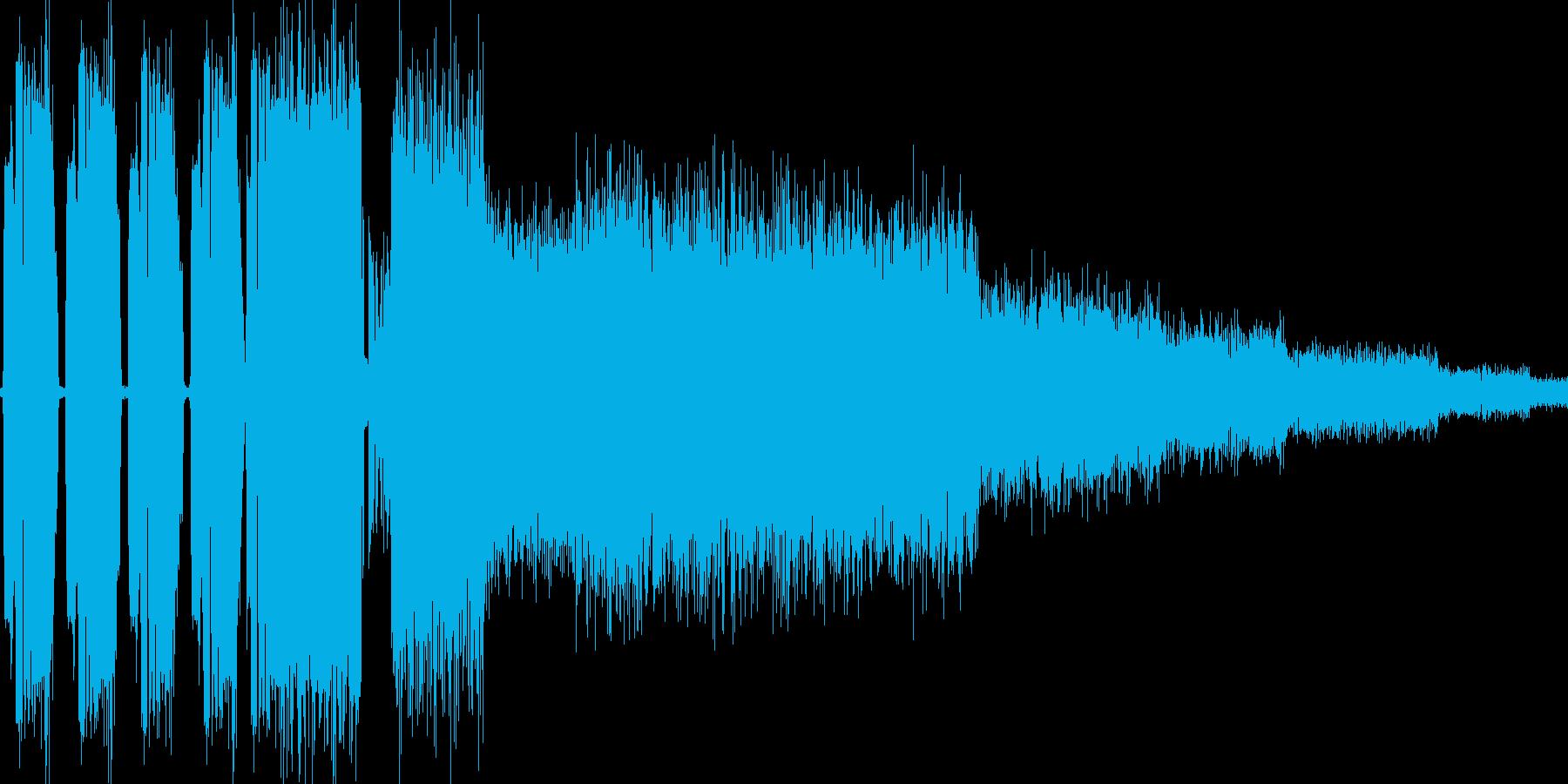 RPG:雷魔法音「ババババシャーン」の再生済みの波形