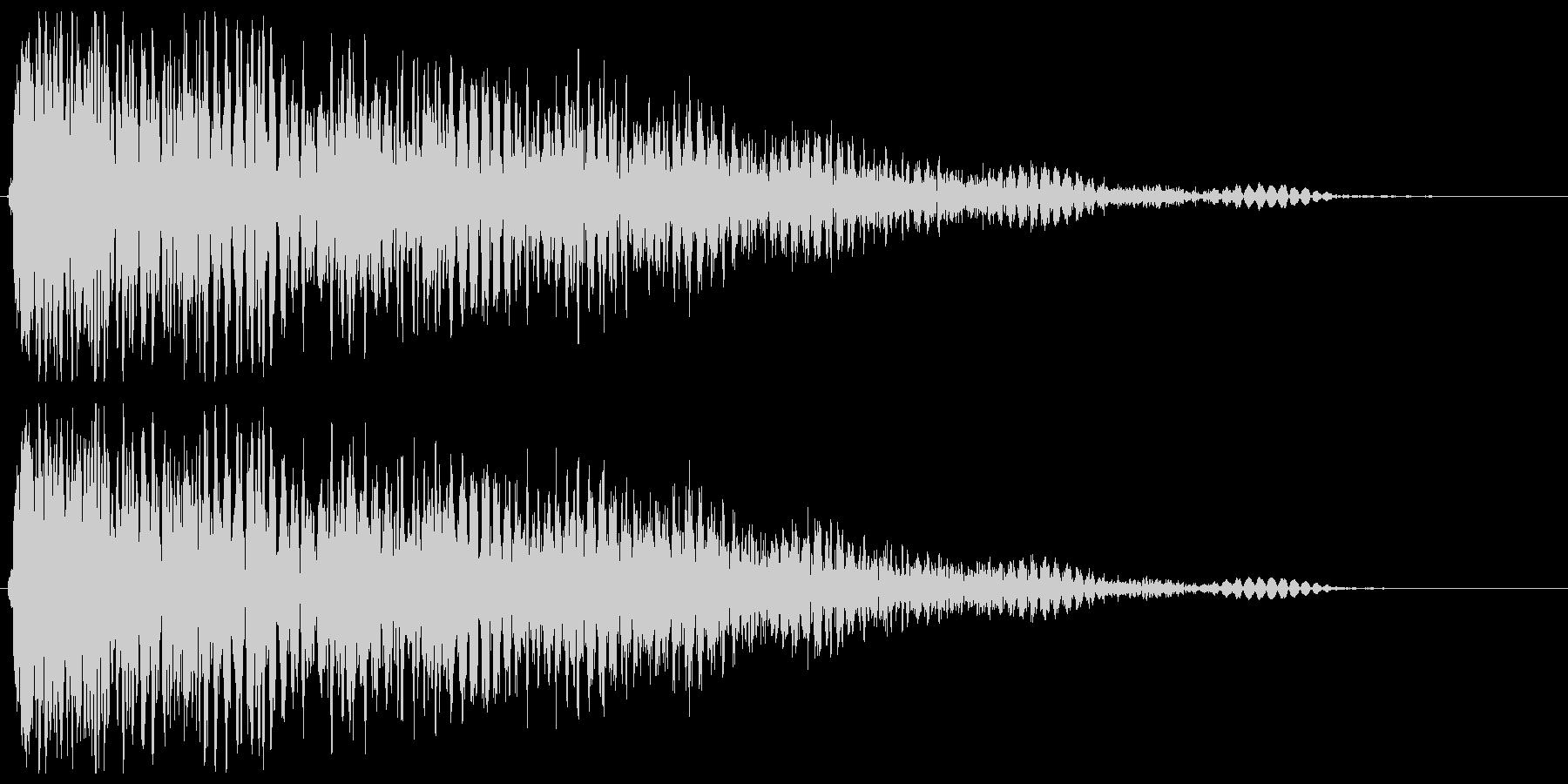 銃声音と余韻がある音の未再生の波形