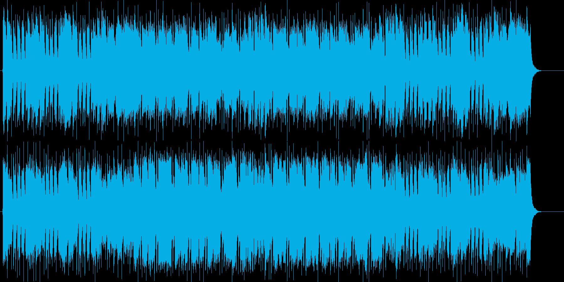 楽しい、わくわく、にぎやか、はつらつの再生済みの波形