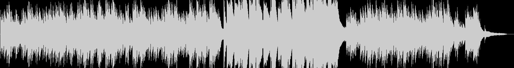 これから何かが始まるような予感のピアノの未再生の波形