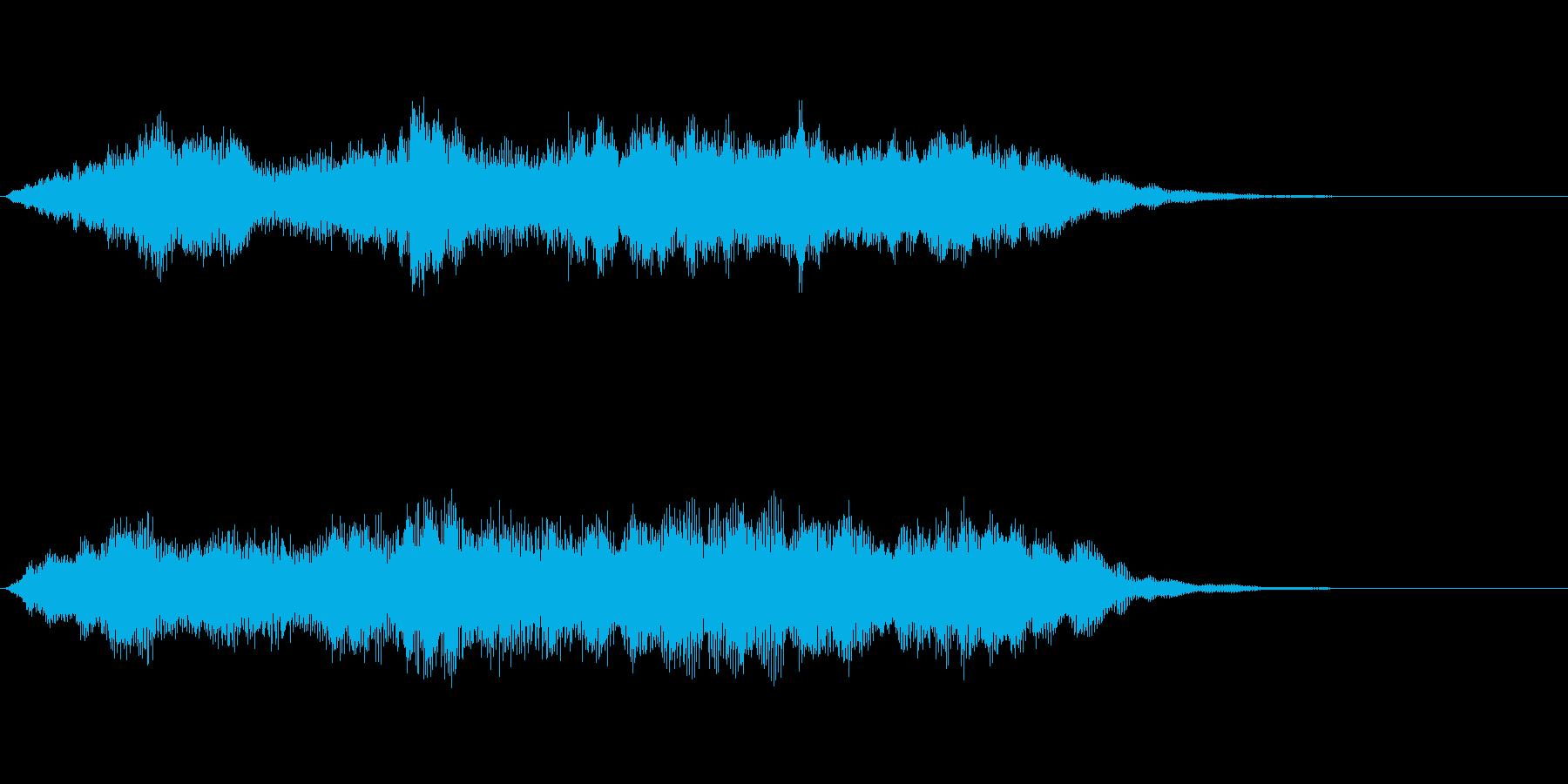 穏やかな弦楽オーケストラ風のジングルの再生済みの波形