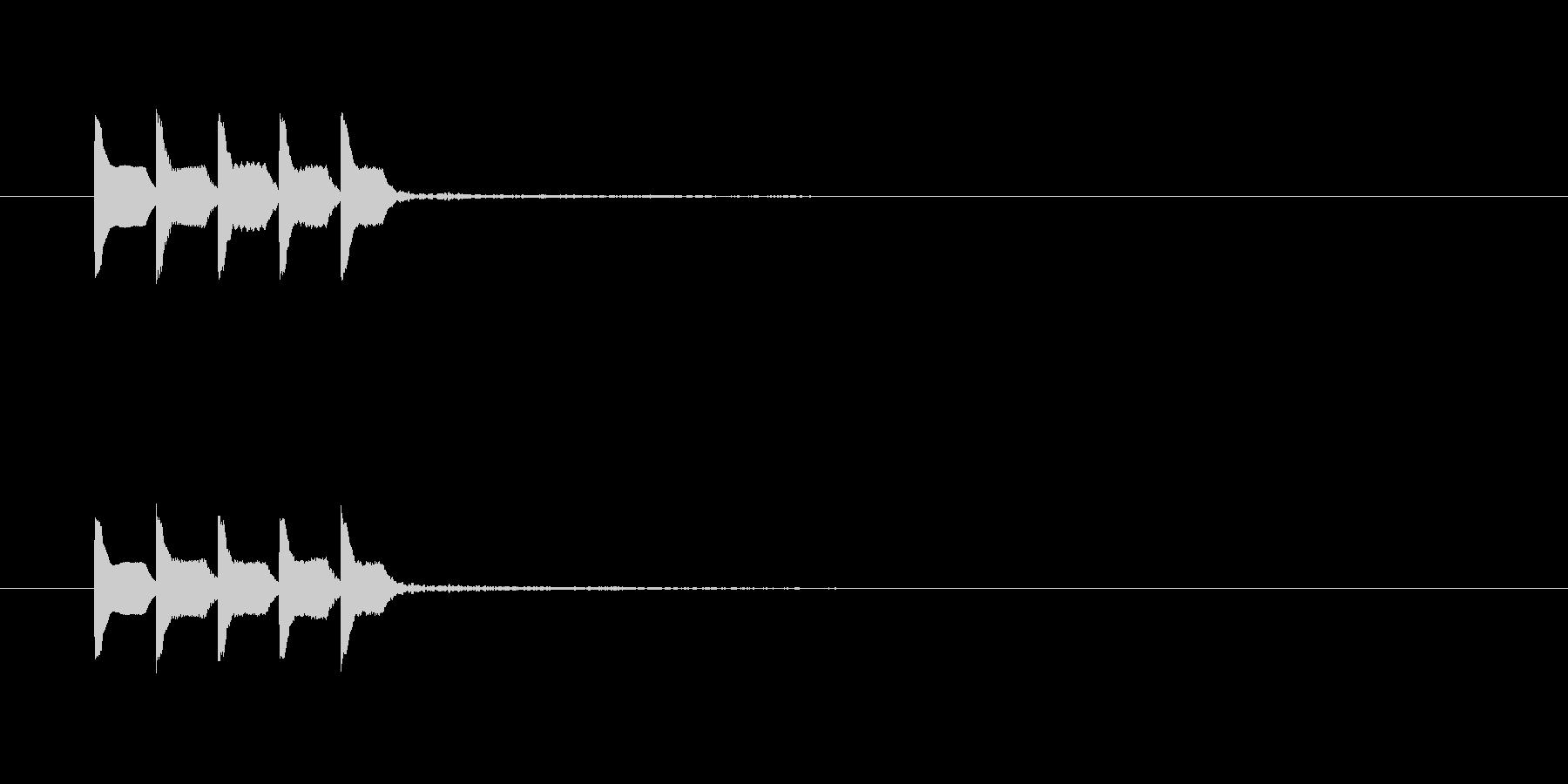 テレレレレの未再生の波形