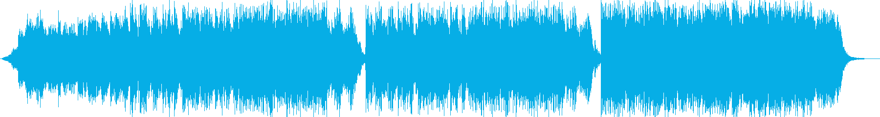 ギターと電子ピアノのしっとりバラードの再生済みの波形