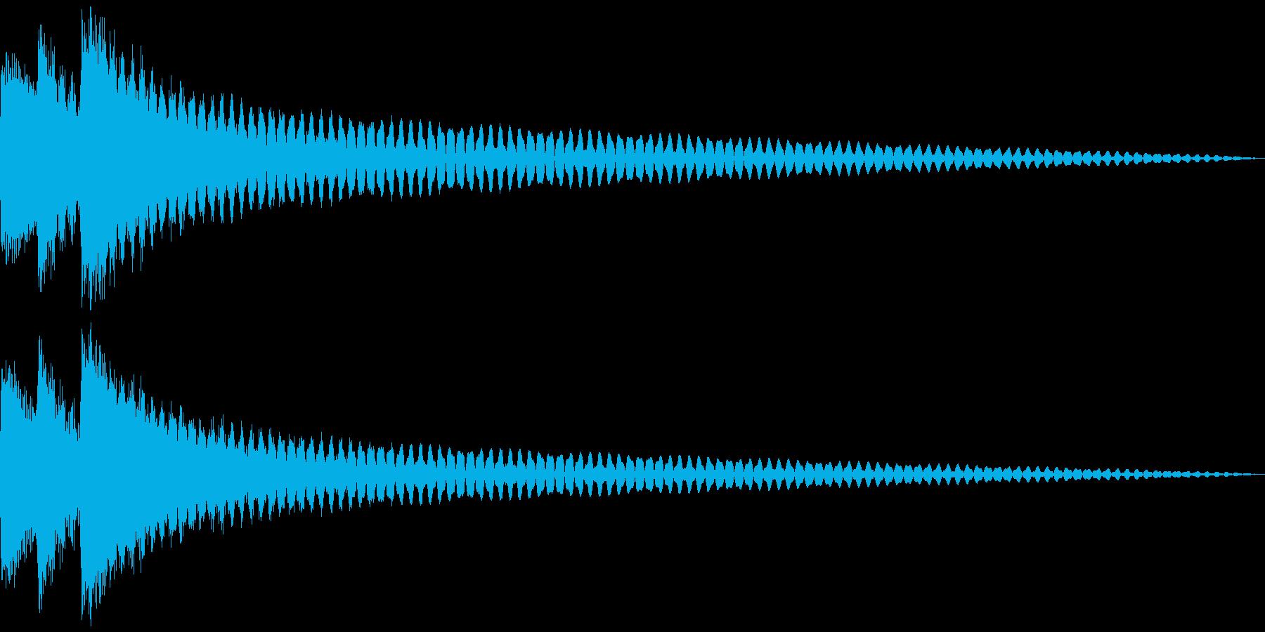 ヒント、閃き、発見。ティローン (鉄琴)の再生済みの波形