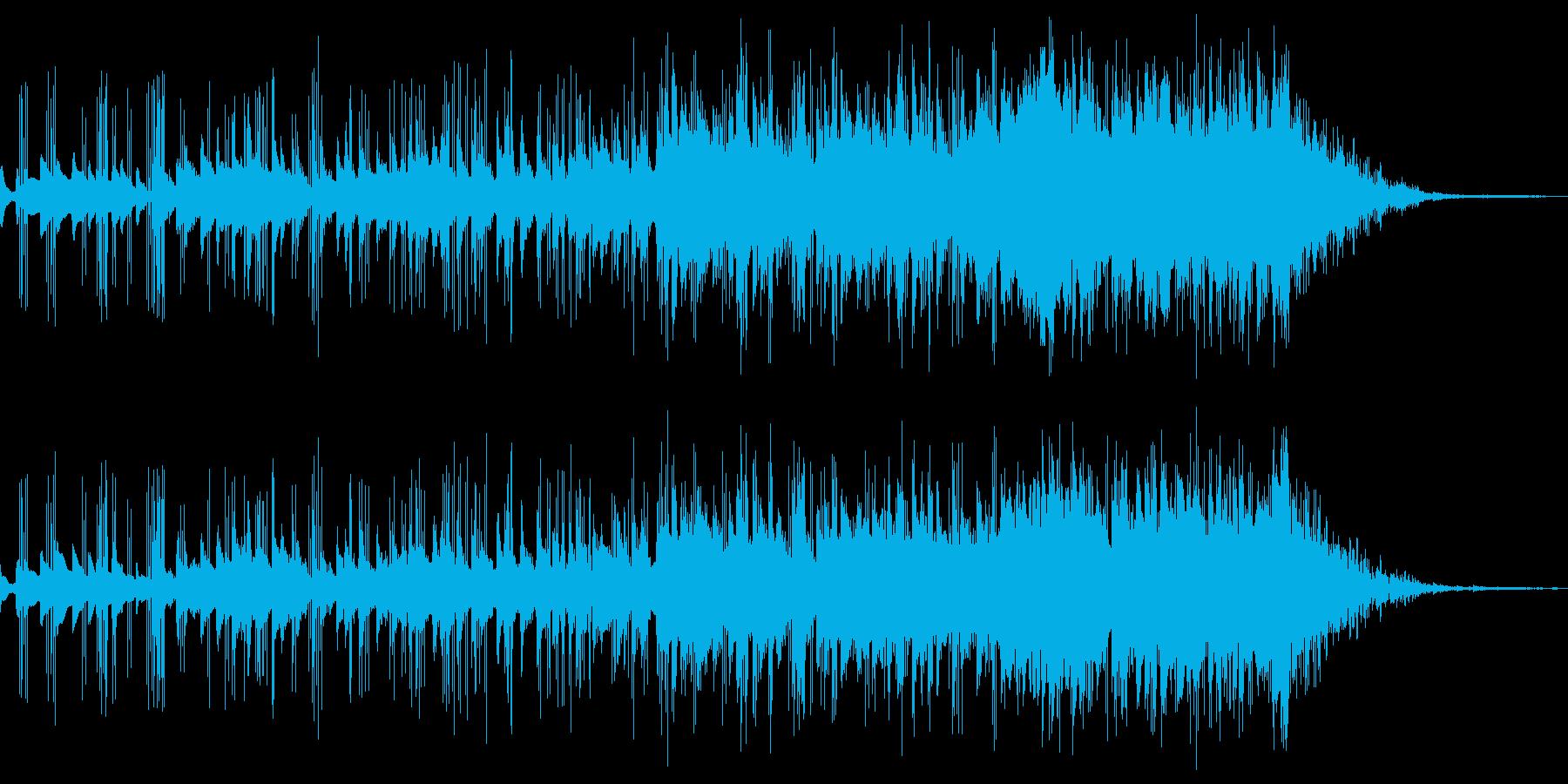 マリンバの幻想的で新しいオープニングの再生済みの波形