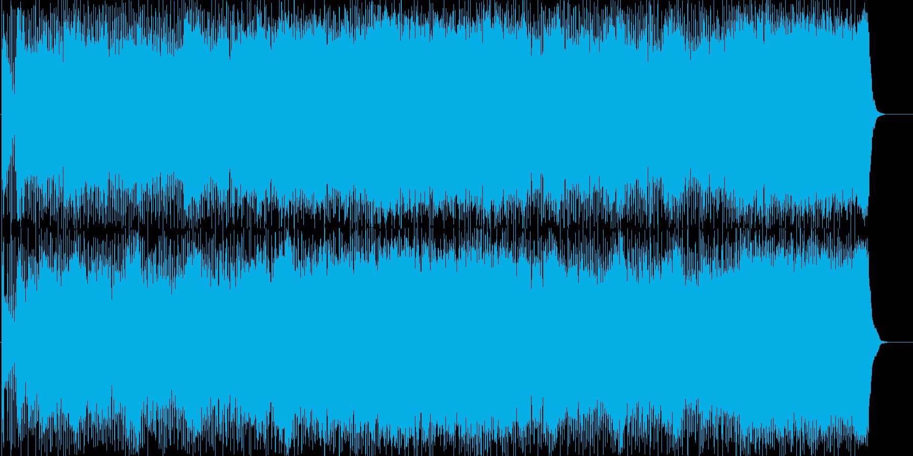 スリル溢れる重厚で激しいハードロックの再生済みの波形