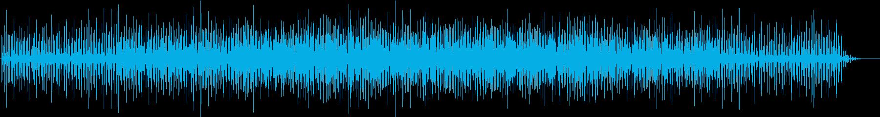 アブストラクトなシンセサイザーBGMの再生済みの波形