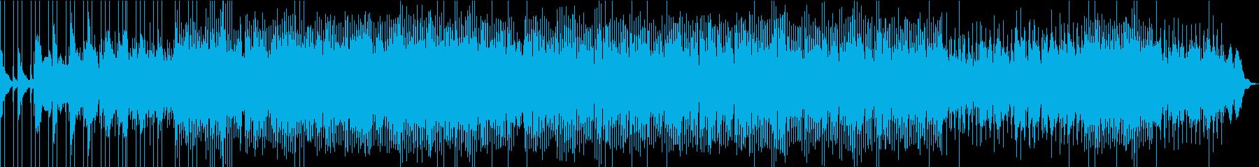 クールでかっこいい四つ打ちテクノの再生済みの波形