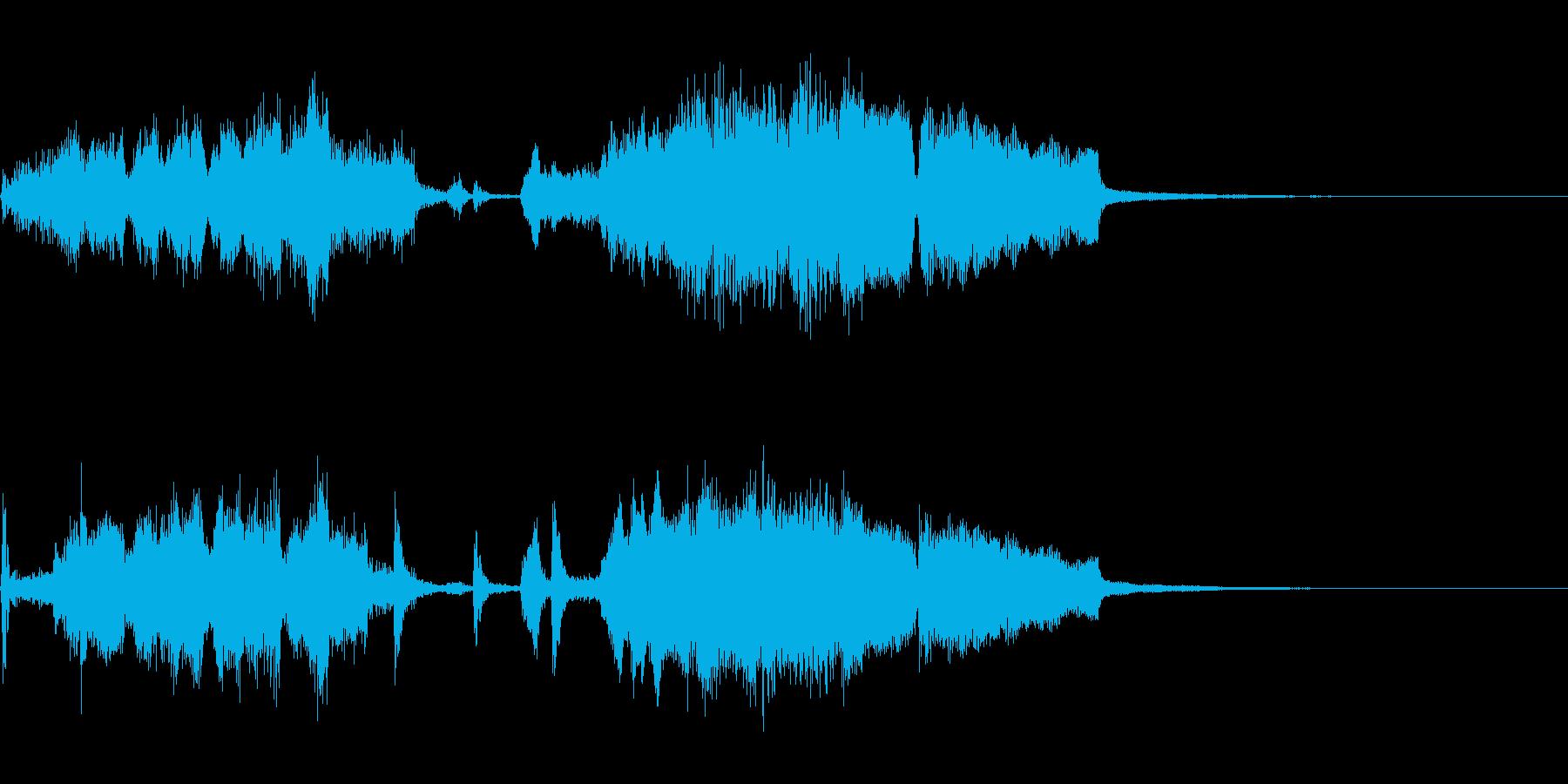 ちょっぴりスイングしたジングルの再生済みの波形