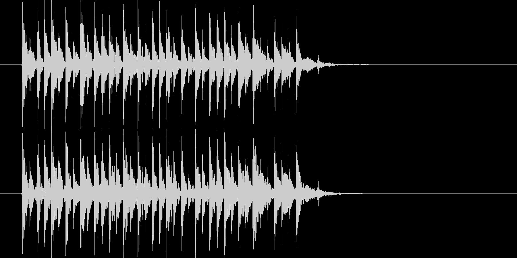 おしゃれで宇宙感のあるシンセサウンドの未再生の波形