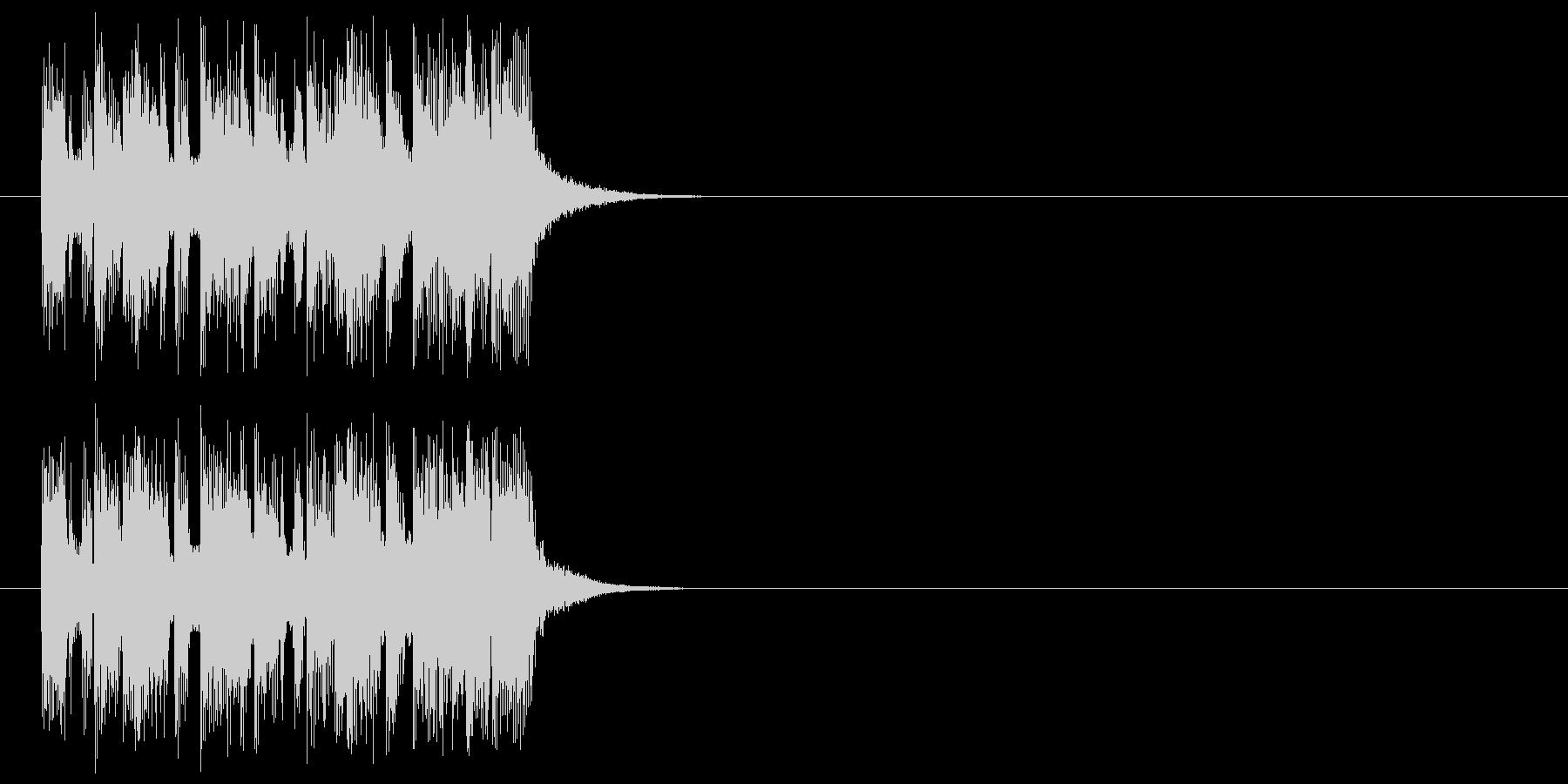 ジングル(ヘヴィロック風)の未再生の波形