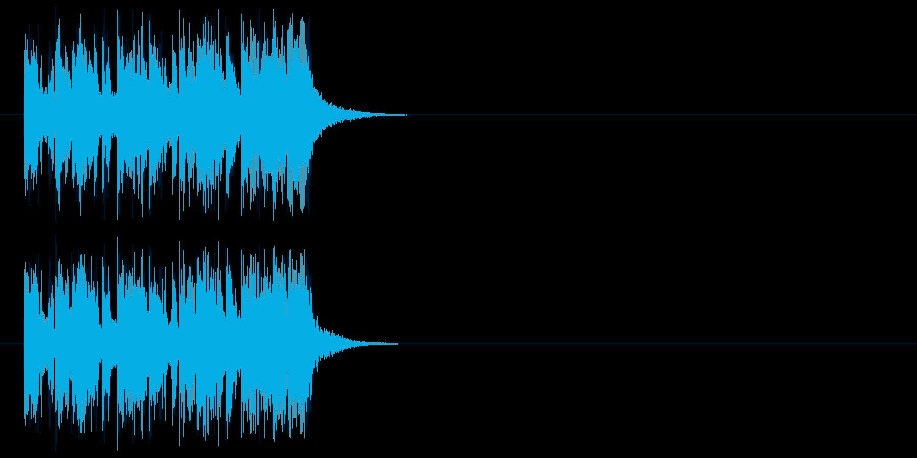 ジングル(ヘヴィロック風)の再生済みの波形