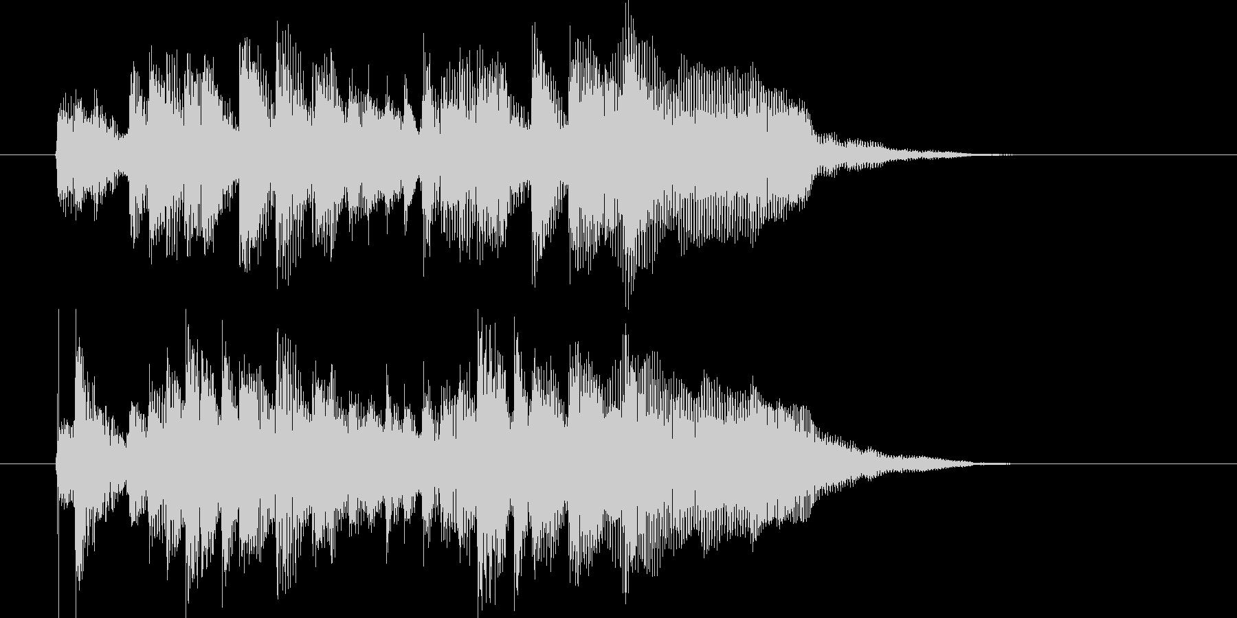 デジタルな音色の民族音楽の未再生の波形
