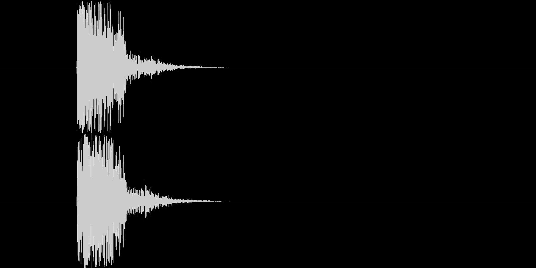 木刀の打撃音です。(エフェクトで加工す…の未再生の波形