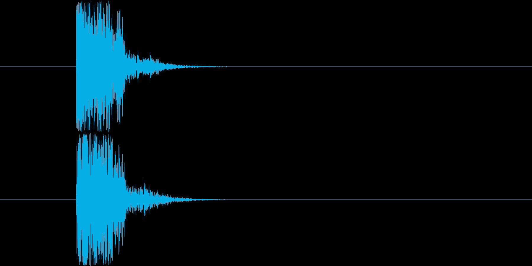 木刀の打撃音です。(エフェクトで加工す…の再生済みの波形