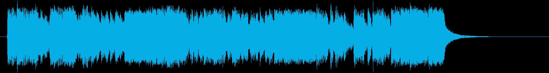 勢いある軽快なトランペットポップジングルの再生済みの波形