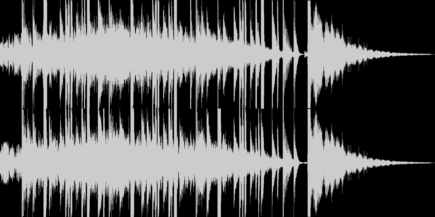 サウンドロゴ ジングル CM 無機質の未再生の波形