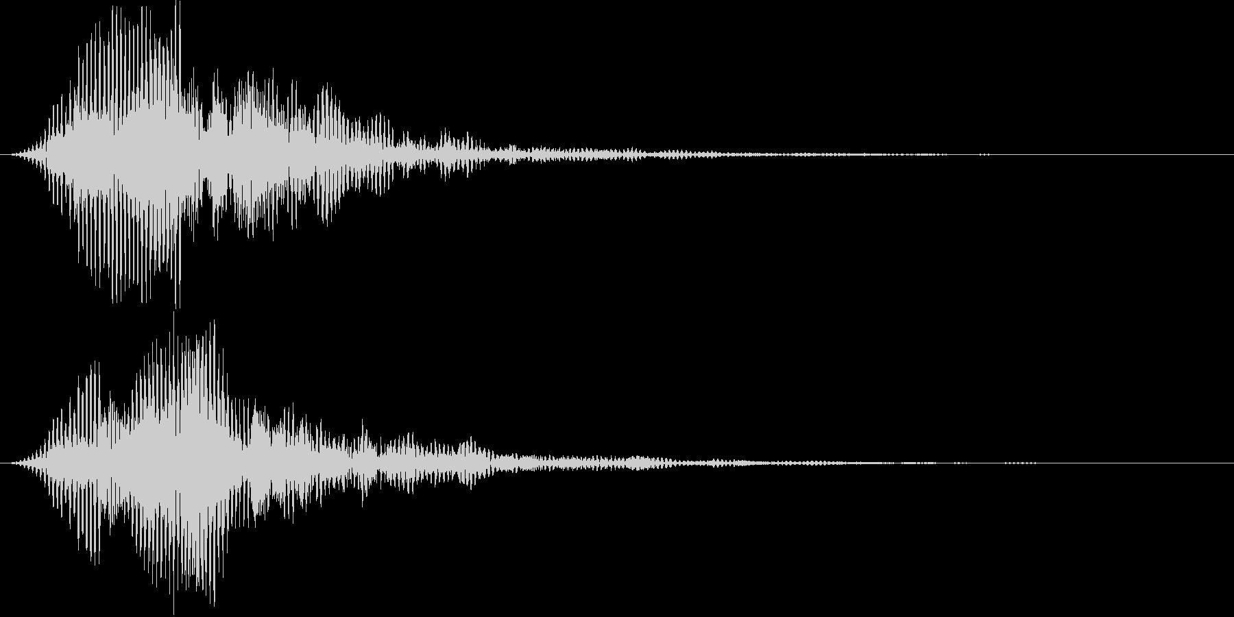 ロボット AI アンドロイド風 音の未再生の波形