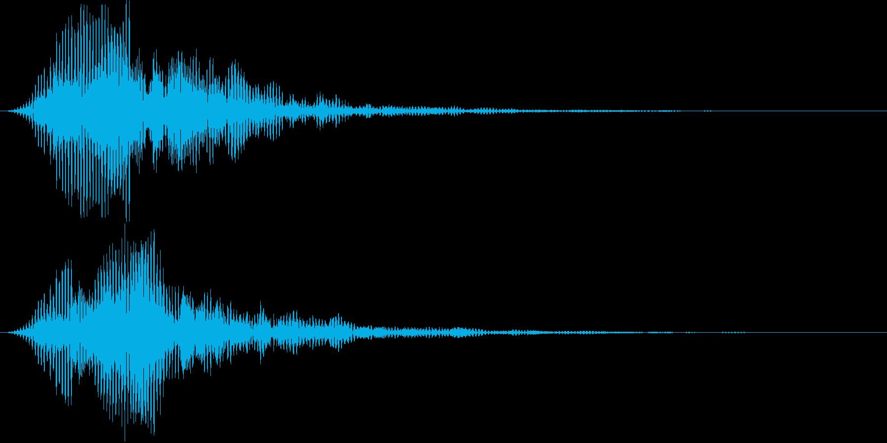 ロボット AI アンドロイド風 音の再生済みの波形