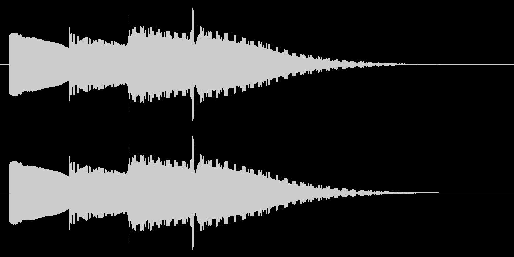 チャイム アナウンス07-2の未再生の波形
