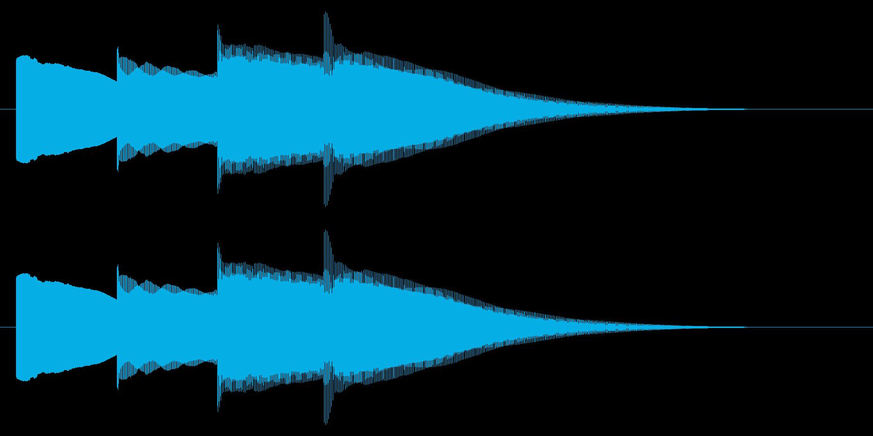 チャイム アナウンス07-2の再生済みの波形