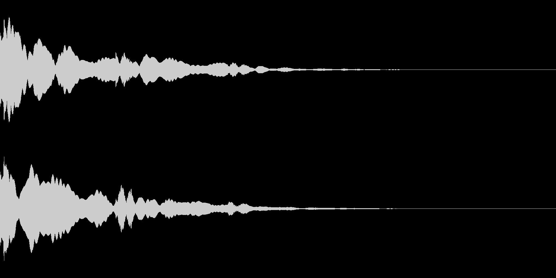 システム/金属/ベル/ポン/メタル/1の未再生の波形