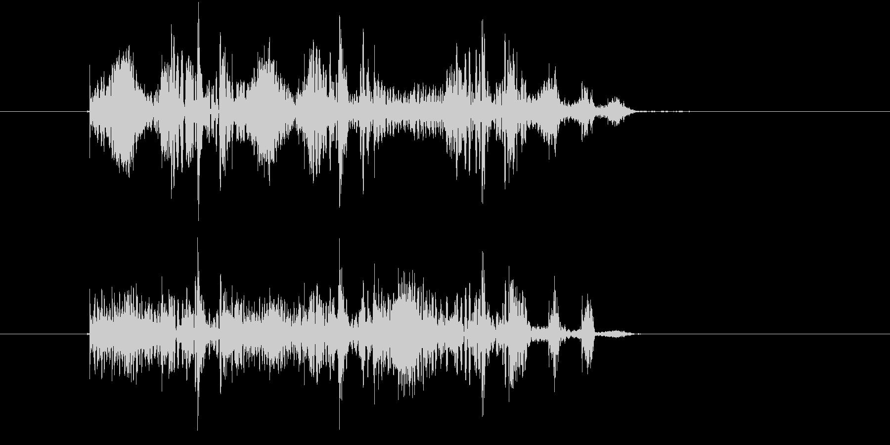 コミカルなリズム音(ゲーム、ジングル)の未再生の波形