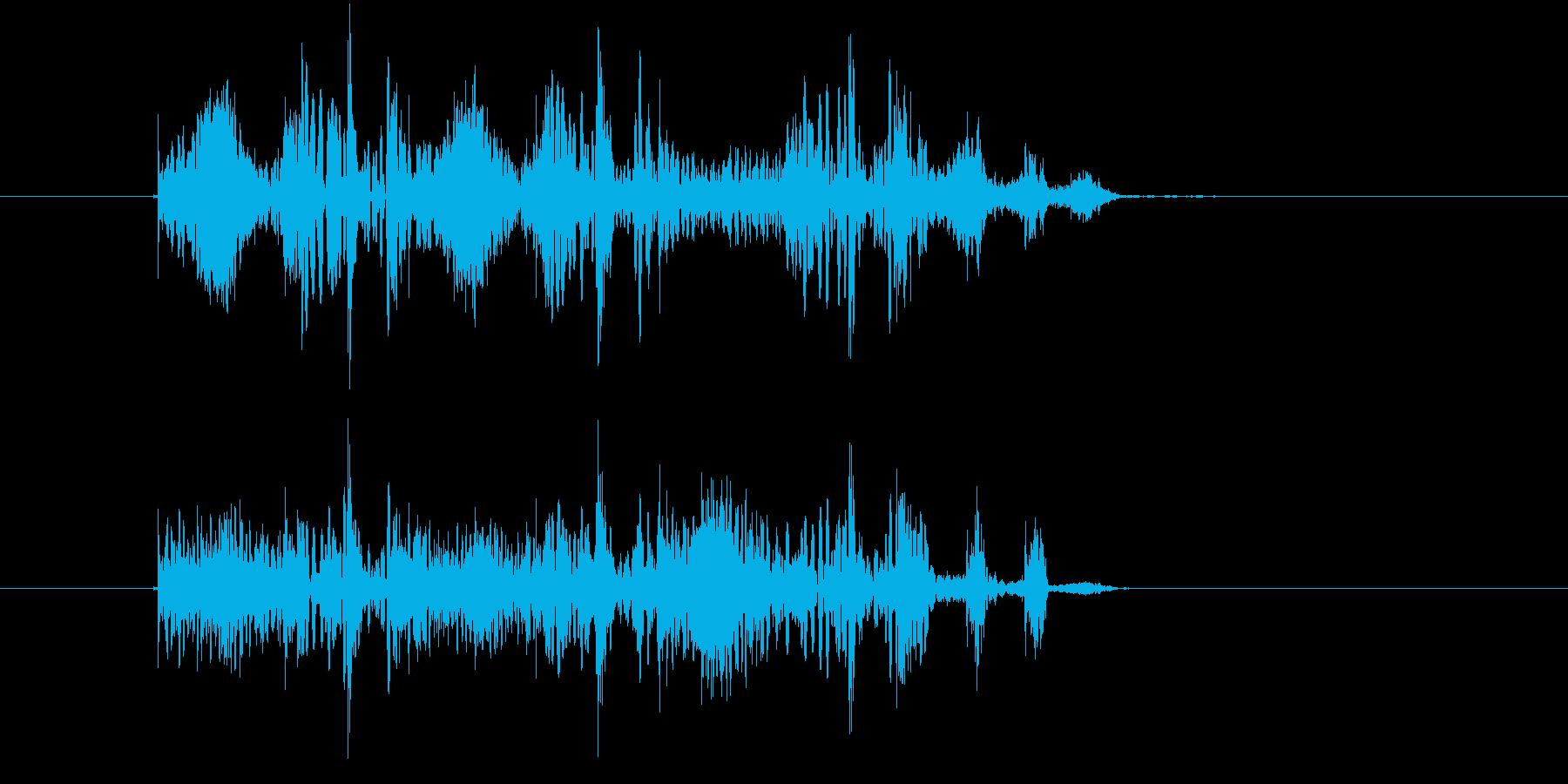 コミカルなリズム音(ゲーム、ジングル)の再生済みの波形