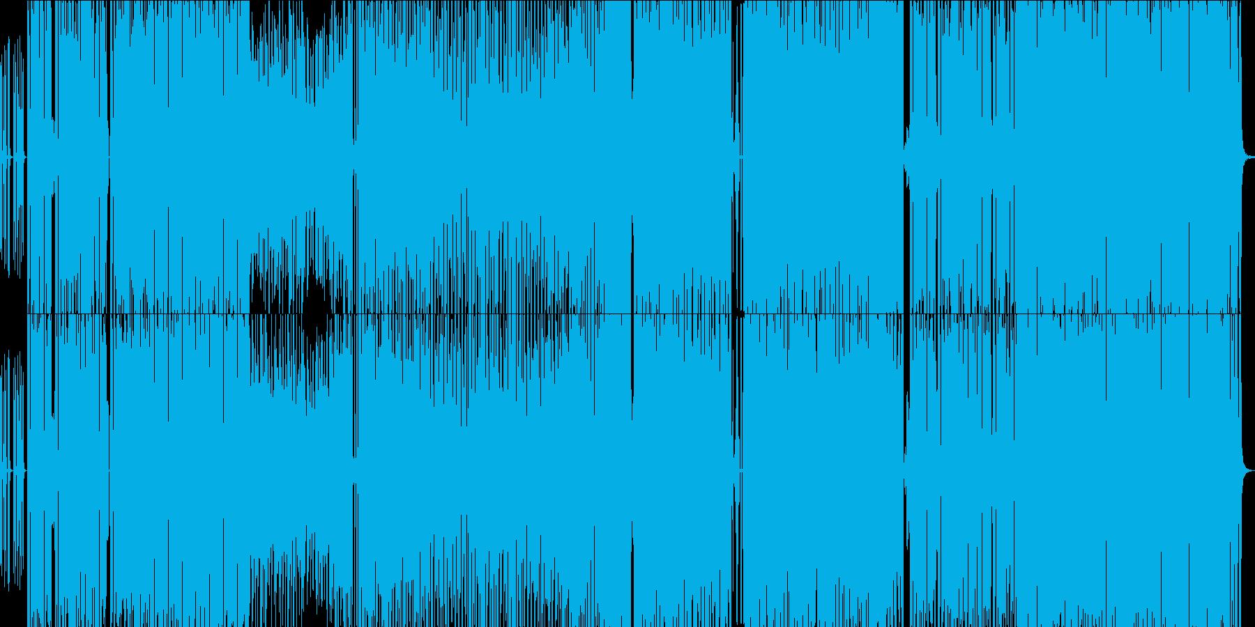 ムービーなどで使用できるEDM系曲の再生済みの波形