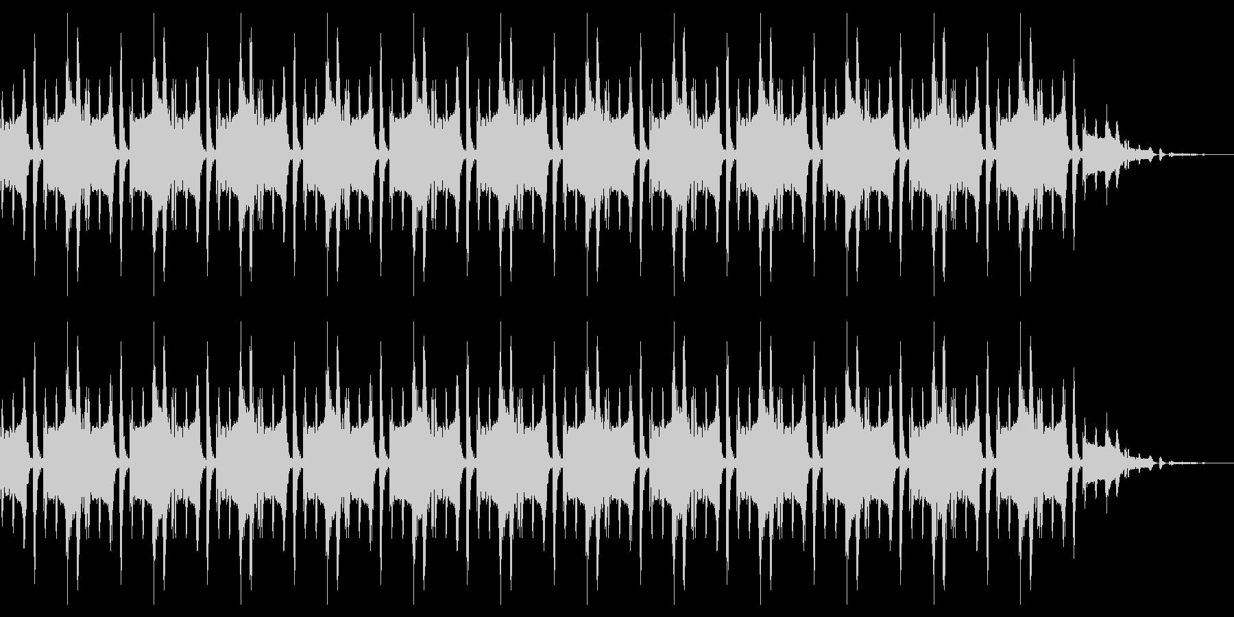 脱力感のあるリフレインの未再生の波形