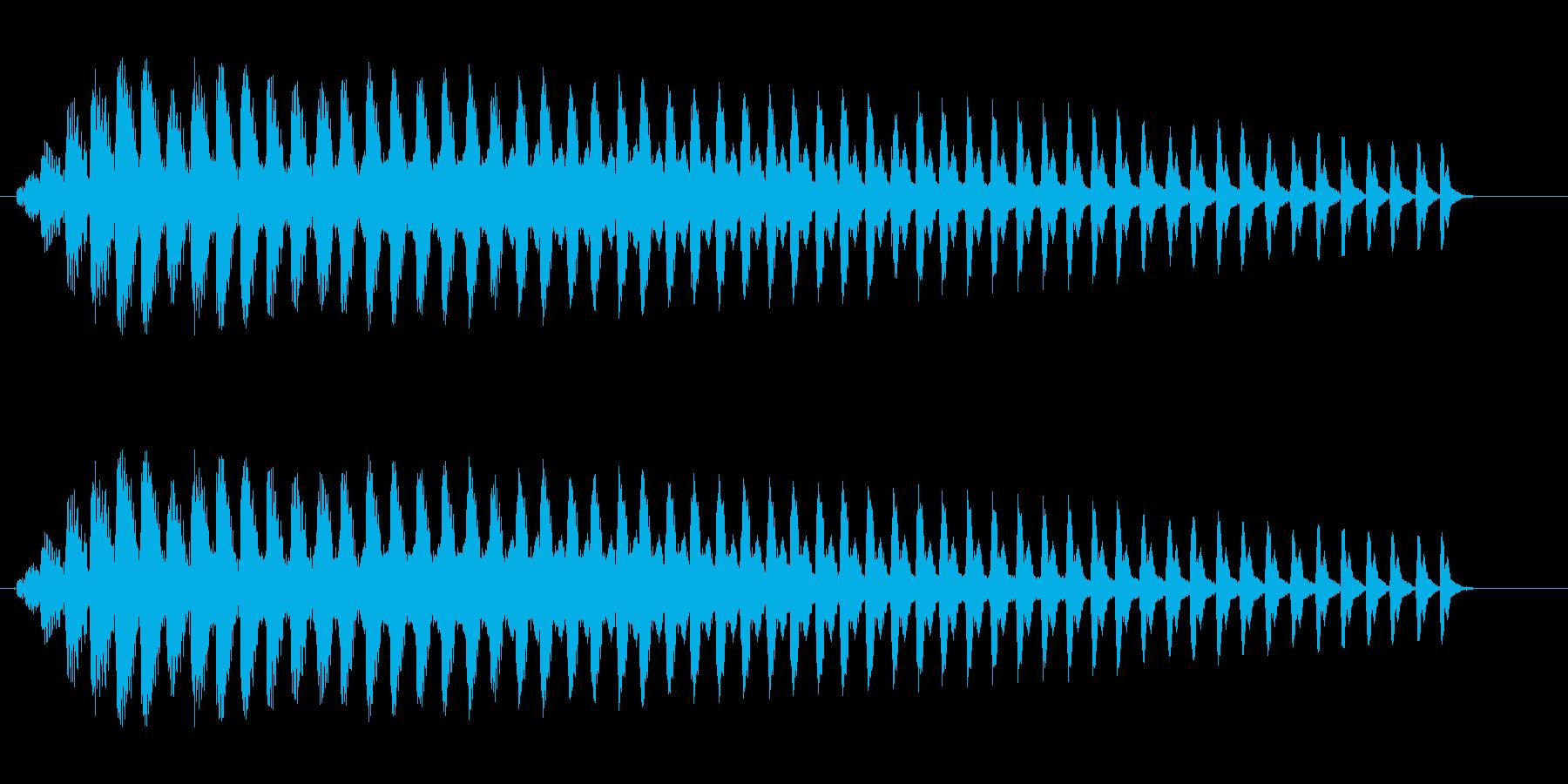 ビョーンと首をひねった音の再生済みの波形