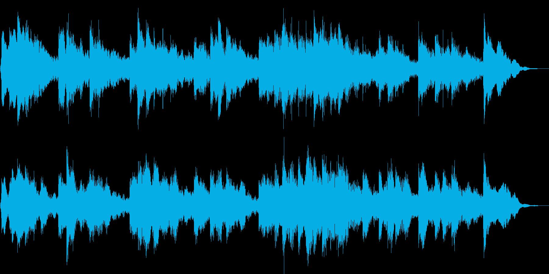 悲しく哀愁感溢れるピアノのBGMの再生済みの波形