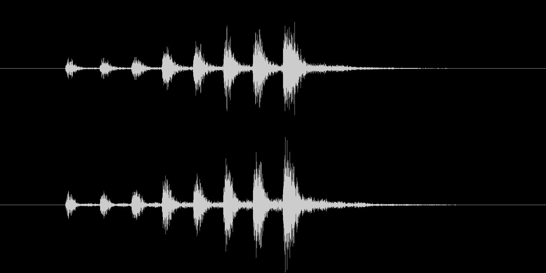 【生楽器】定番の迫る恐怖!速い版の未再生の波形
