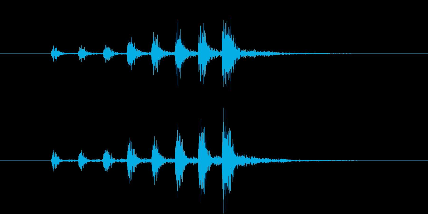 【生楽器】定番の迫る恐怖!速い版の再生済みの波形