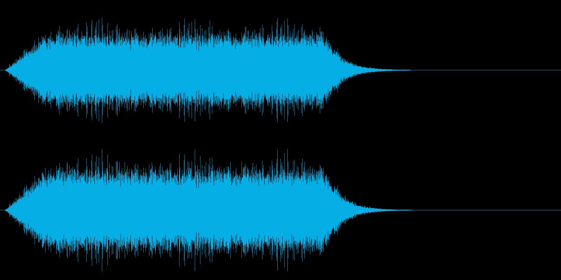 場面 雨の再生済みの波形
