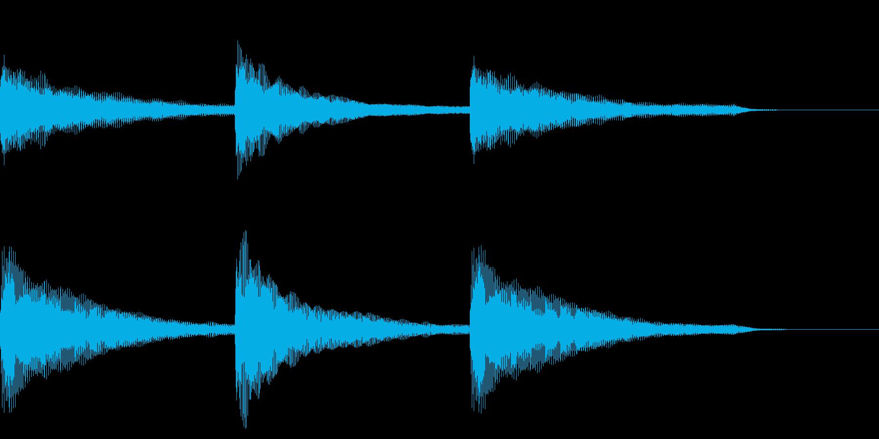 気をつけ、礼の時のピアノ伴奏の再生済みの波形