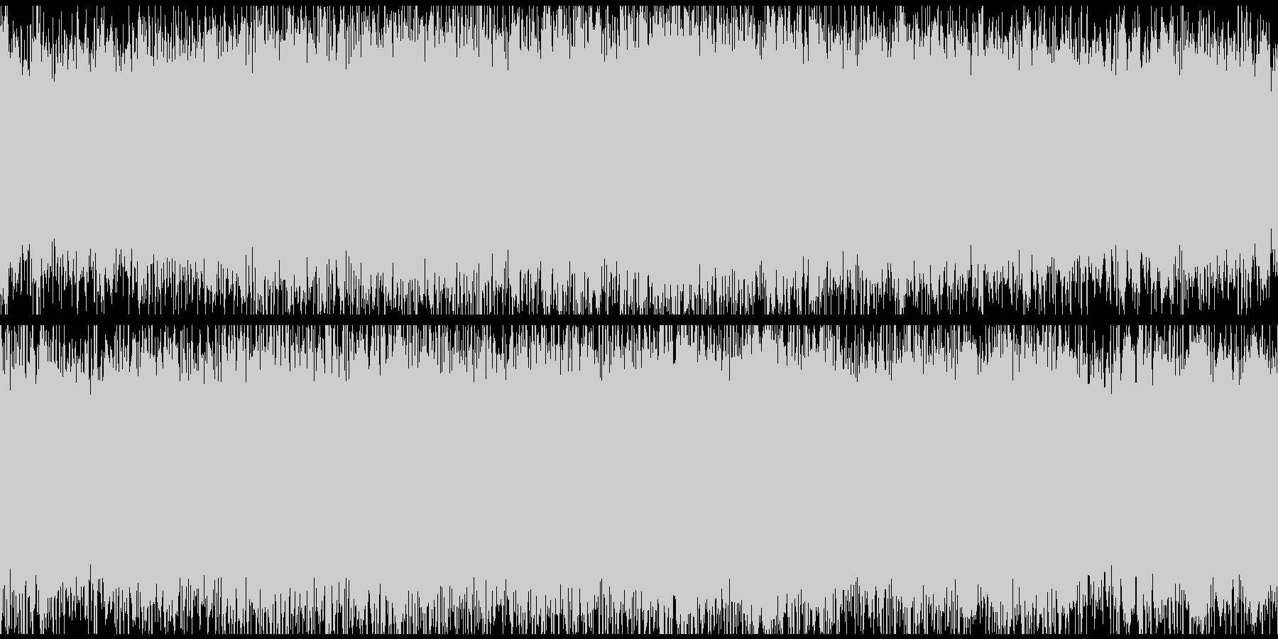 神秘的リキッド・ドラムンベース・ループ◯の未再生の波形