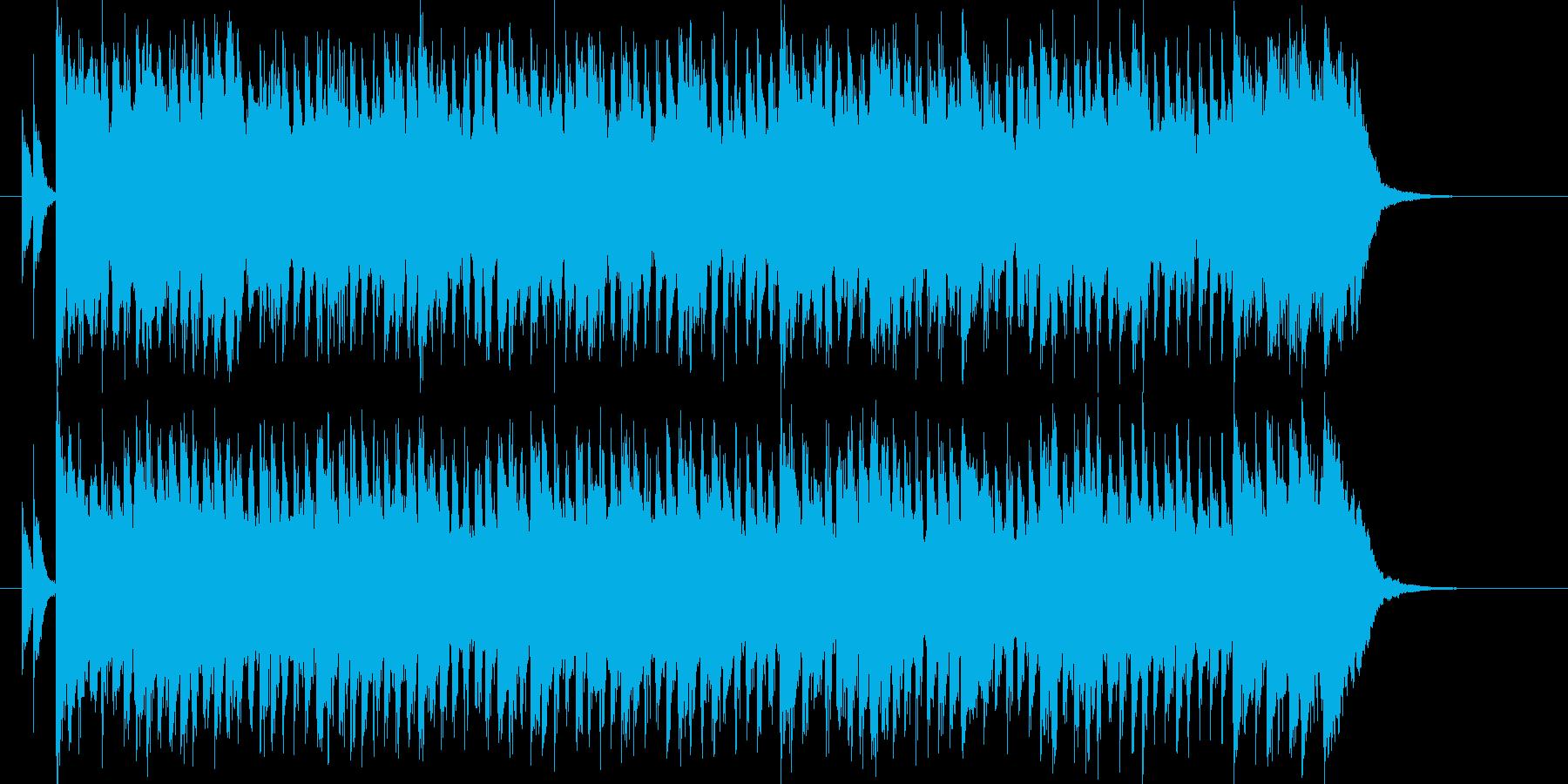 シンセによる明るく軽快なポップスの再生済みの波形