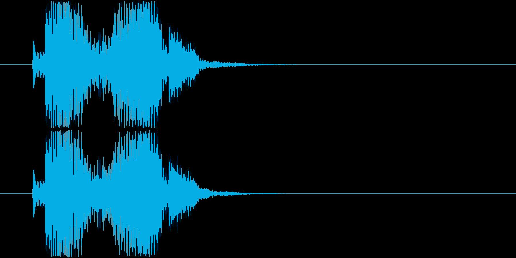 「ピコピコン!」未来的、宇宙っぽい決定音の再生済みの波形
