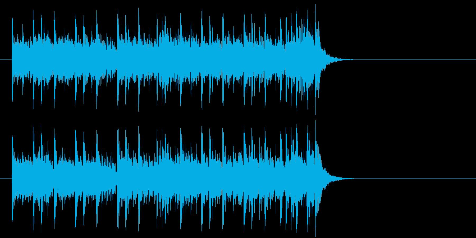 前向きで充実したポップ(サビ)の再生済みの波形