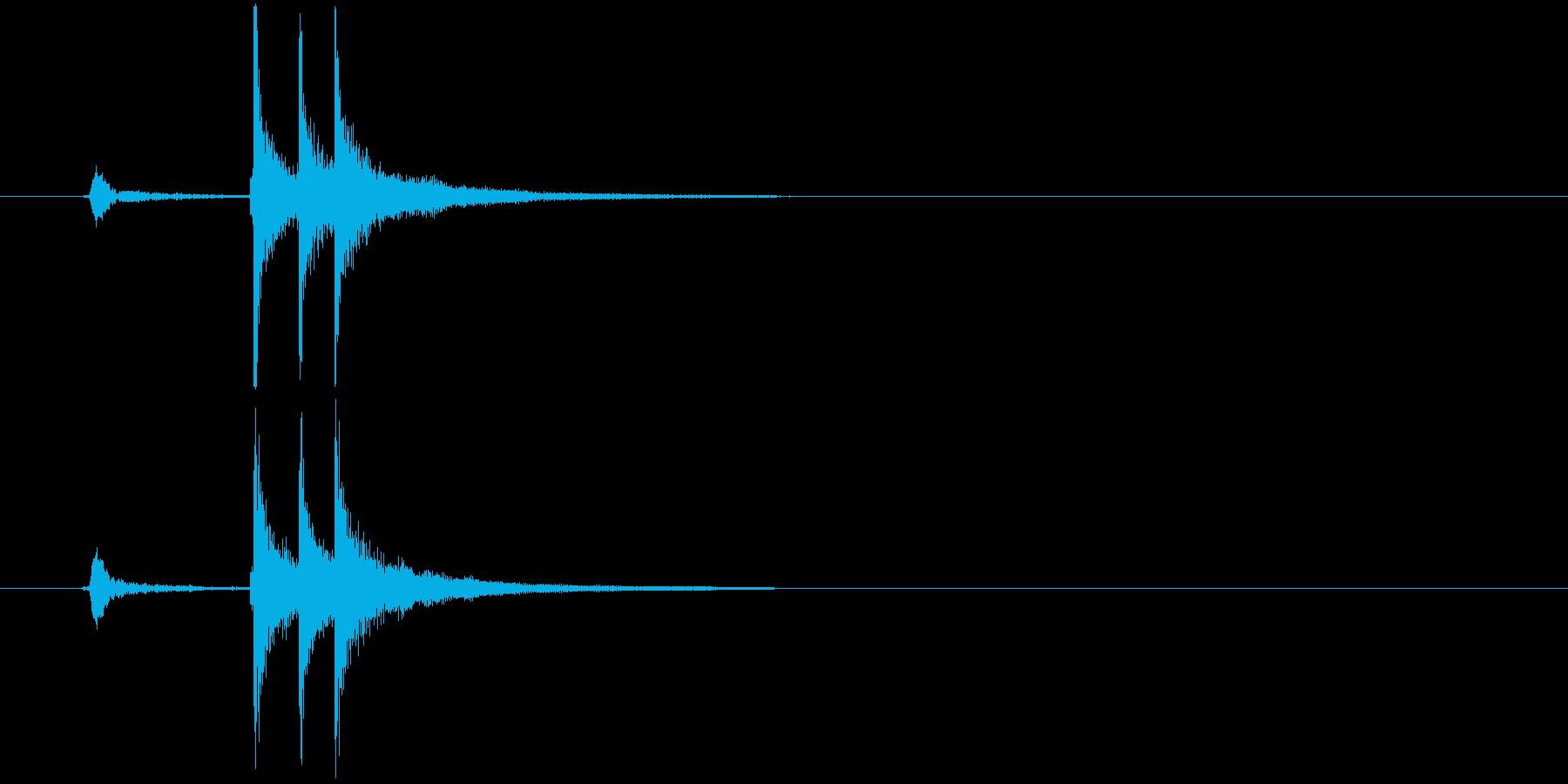 和の素材_三味線と掛け声_ジャカジャーンの再生済みの波形