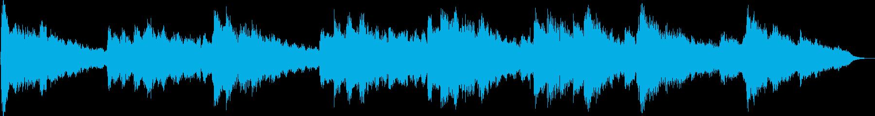 フルートメインの優しく温かなBGMの再生済みの波形