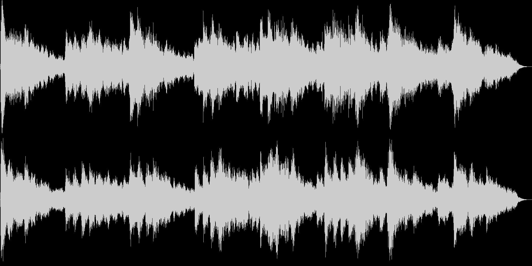 フルートメインの優しく温かなBGMの未再生の波形
